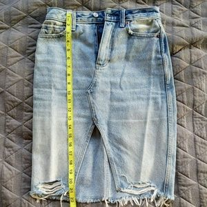 Dresses & Skirts - Abercrombie and Fitch Blue Jeans skirt high waist